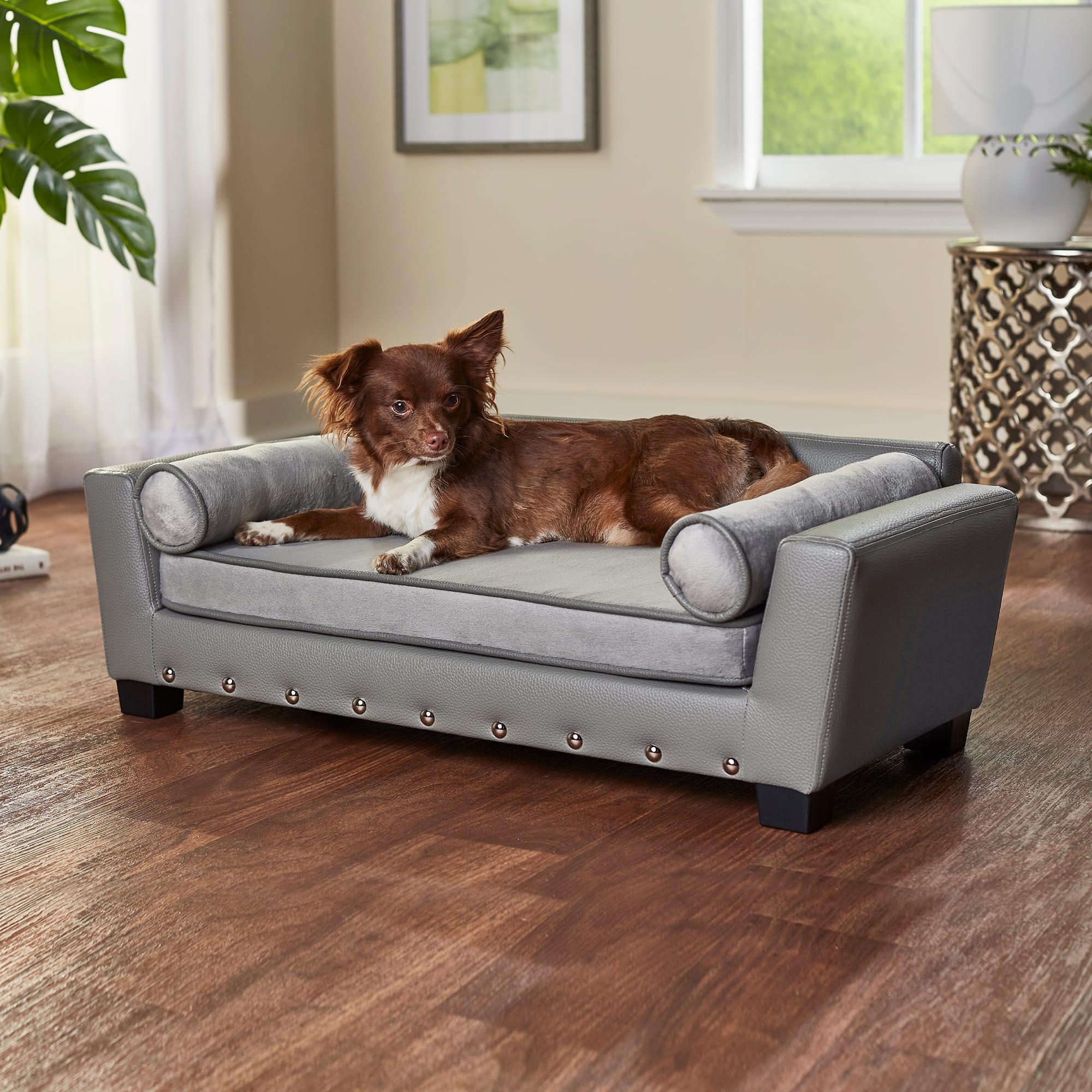 Enchanted Home Pet Gray Sailor Pet Sofa, 31.5