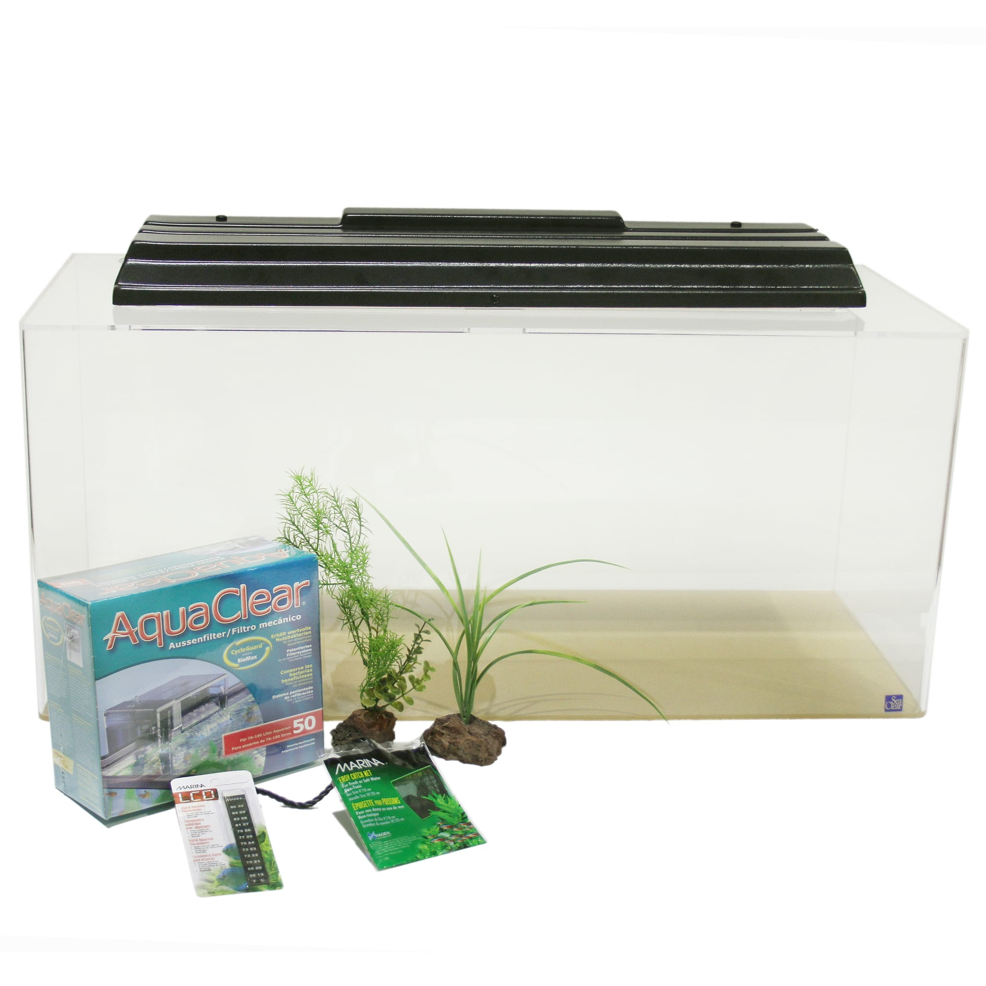 Seaclear 40 Gallon Rectangular Junior Executive Kit Clear Petco Use it to convert gallons and liters for your fish tank, swimming pool, car fuel consumption, water usage and more. seaclear 40 gallon rectangular junior executive kit clear