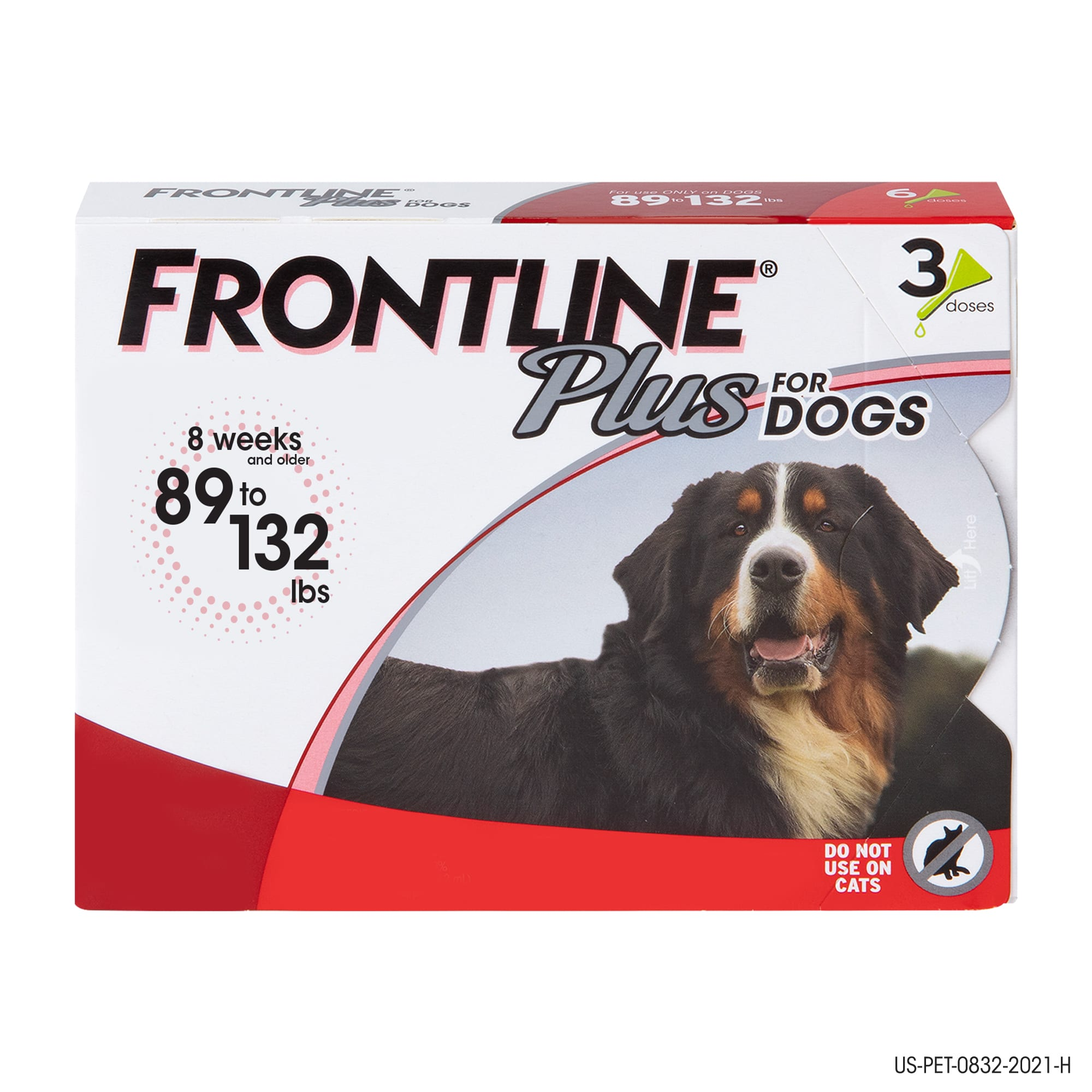 Frontline Plus Flea And Tick Treatment For X Large Dogs Up To 89 To 132 Lbs 3 Treatments Petco