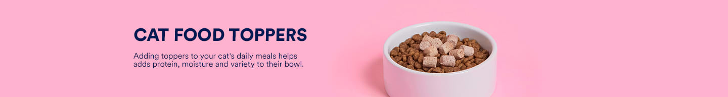 Cat food toppers. Adding toppers to your cat's daily meals helps add protein, moisture and variety to their bowl.