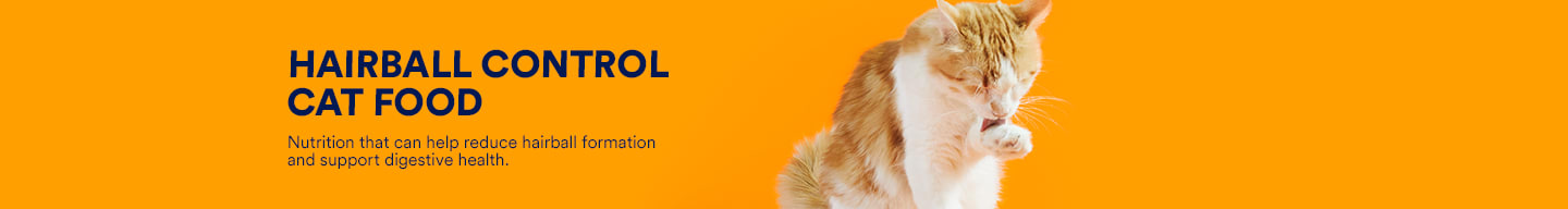 Hairball control cat food. Nutrition that can help reduce hairball formation and support digestive health.