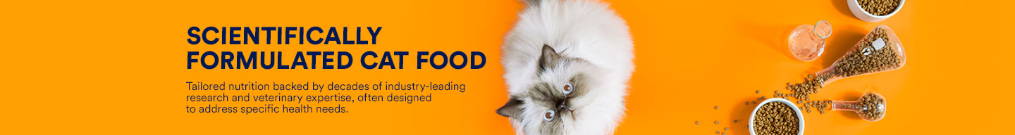 Scientifically formulated cat food. Tailored nutrition backed by decades of industry-leading research and veterinary expertise, often designed to address specific health needs.