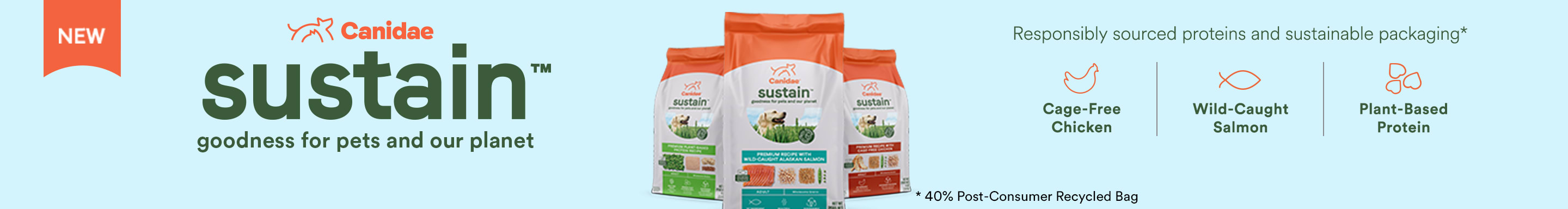 Canidae Sustain. Goodness for our pets and our planet