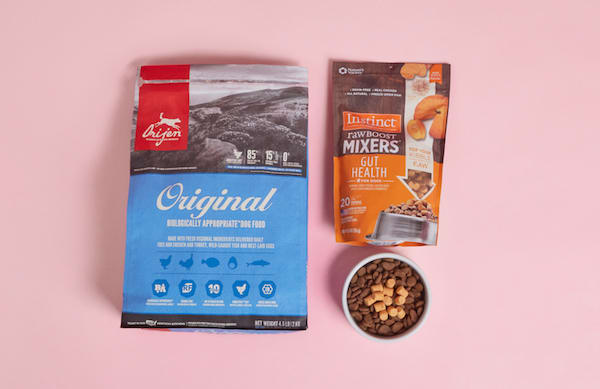 Cat food and toppers from petco
