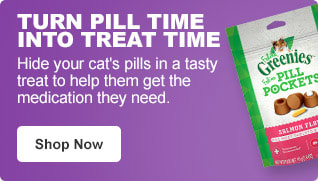Turn pill time into treat time - Hide your cat's pills in a tasty treat to help them get the medication they need. - Shop Now