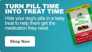 Turn pill time into treat time - Hide your dog's pills in a tasty treat to help them get the medication they need. - Shop Now