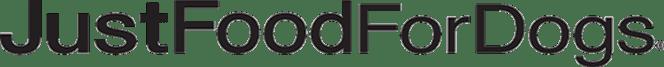 JustFoodForDogs logo.