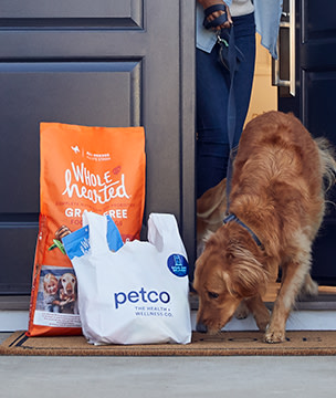 Pet food being delivered