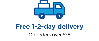 Free 1-2 day delivery on orders over $35
