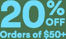 25% off orders $50+